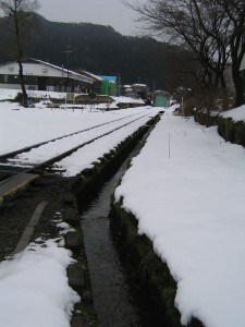 若桜鉄道若桜駅流雪溝