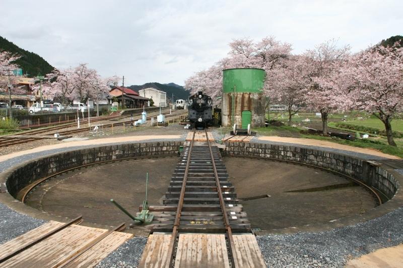 若桜鉄道若桜駅機関車転車台