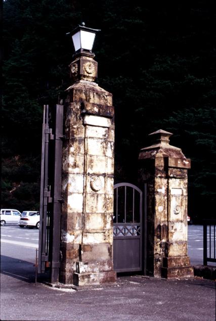 生野鉱山正門門柱、金香瀬坑口