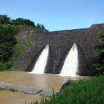 旧美歎水源地水道施設 貯水池堰堤