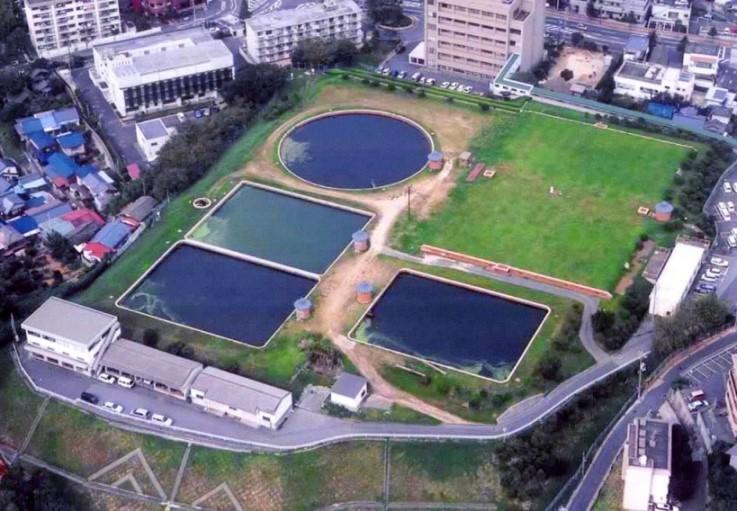 下関市上下水道局高尾浄水場着水井