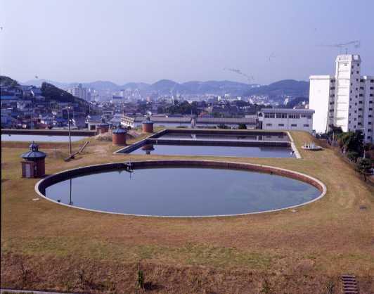 下関市上下水道局高尾浄水場4号円形濾過池