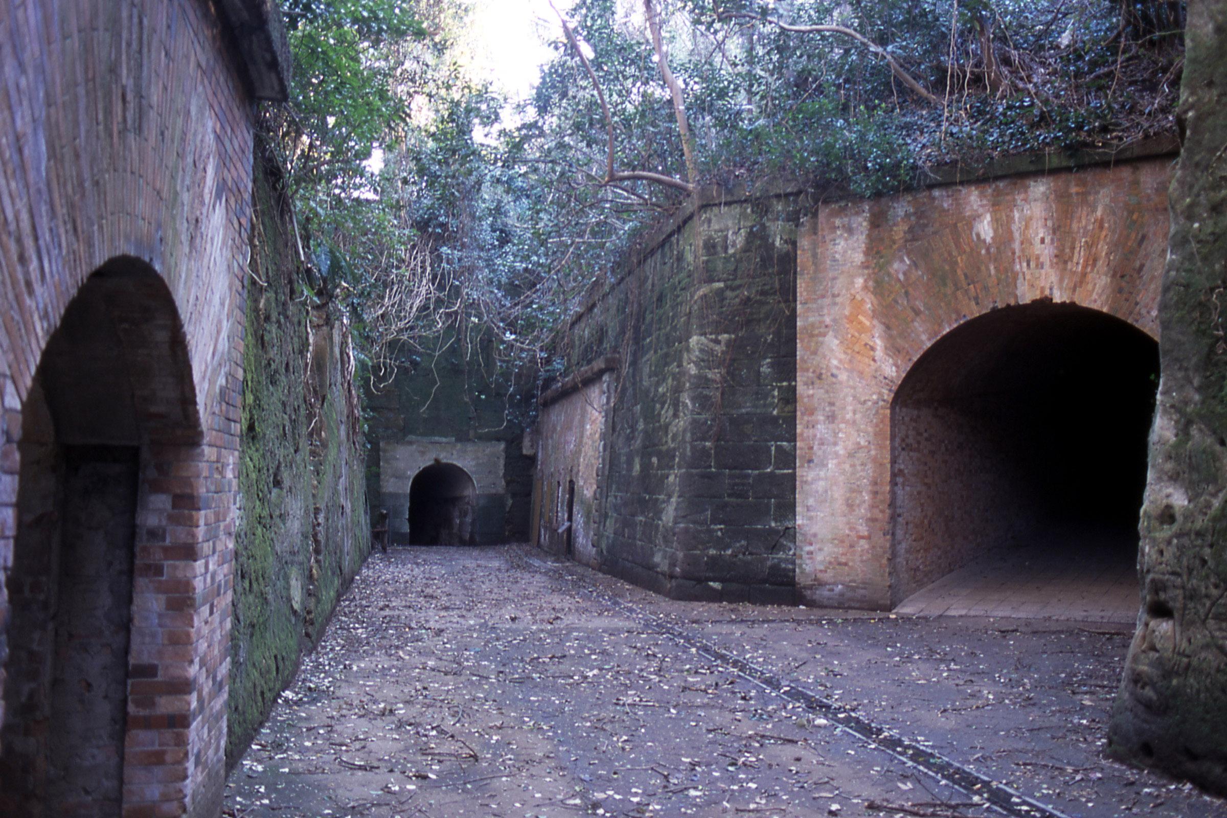 猿島砲台跡(切通とトンネル)