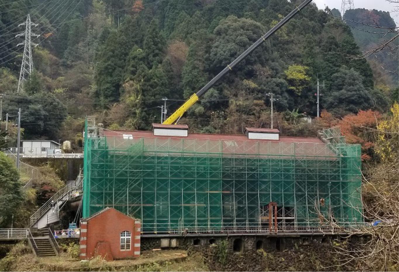 旧端出場水力発電所 耐震補強等工事現場特別公開